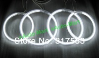 For HYUNDAI TIBURON 2003 CCFL ANGEL EYES HALO RINGS bulbs lamps set kit -White