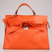 Exquisite bow fashion women's genuine leather messenger bag fashion handbag