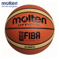 Free shipping 1 2 basketball molten gm6 6 basketball high quality PU basketball