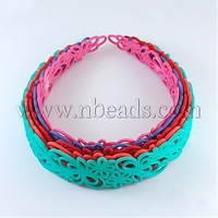 Acrylic Headbands,  Mixed Color,  110x31mm