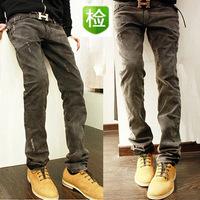 Spring new arrival water wash male jeans hole personality street the trend skinny pants men's clothing jeans