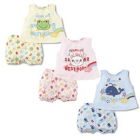 2013 5set lot Summer cute Children suits Baby boys Girls Clothes Kids Set Vest + Shorts T-shirt pants