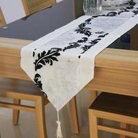 #189  2013 new hot sale promotion flocking table dinner runner 32*195cm min1pcs freeshipping wholesale