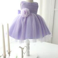 50% OFF!!Lavender love!2014 new girl's princess wedding dress female Children's/baby girl new year party ball flower dress