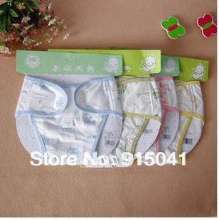 Baby diaper 100% cotton breathable leak-proof pocket  pants cloth diaper urine pants