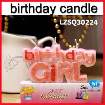 WHOLESALE Happy Birthday Boy Girl Cake Candle Gift Party Decoration Novel Letter say hi Promotion 10sets/lot 30224