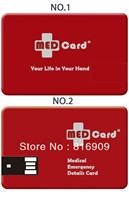Free Shipping Customized Logo Credit Card USB Flash Drive