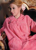 Women's thickening coral fleece sleepwear autumn and winter male lovers 86098 86226 lounge
