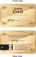 Free Shipping Real Capacity Credit Card USB Flash Pen Drive