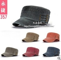free shipping Fashion plate flat hat cap wholesale cotton men and women in lateral rivets flat-cap
