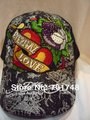 ed hardy casual hat cap embroidered logo eternal love rhinestone for fashion men women edhardy