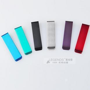 Slender paragraph of multicolour stainless steel money clip wallet metal wallet paper clip