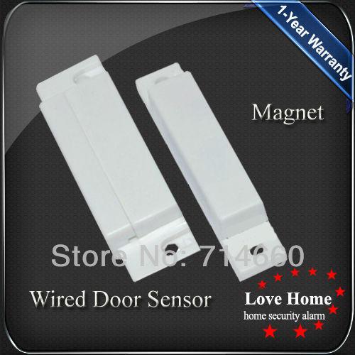 wire door window sensor for home security alarm system wired door contact jpg
