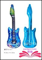 Free Shipping :78x25cm Guitar balloon,cartoon designs guitar .