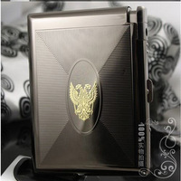 Best . band semi automatic cigarette case lighter ultra-thin yanhe 20 lighter