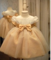 50% OFF! 2013 new girl's princess wedding dress  female Children's one-piece  dress baby girl new year party ball  flower  dress