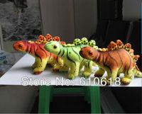 Free Shipping1 Pcs 30cm Stegosaurus Jurassic Dinosaur Children's Educational Toys Cartoon Plush Toy Stuffed Animals Doll Model
