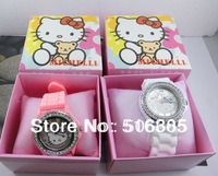 Free shipping DHL50pcs/lot100% brand new children's watch fashion lovely hello kitty watch with gift box wholesale