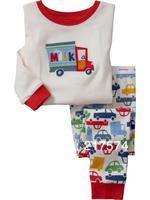 Hot Free Shipping CartoonPajama set  Wholesale 6sets/lot Baby Sleepwear Shirts  pants /long sleeve Underwears sets 6sizes 7008