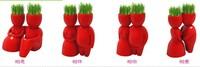 4pcs/Set DIY NEW Red Lover Novel Ceramic Porcelain Bonsai Grass Doll Hair Lover Plant Fun Chinese Gift Free Shipping