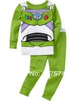 Hot Free Shipping Cartoon Pajama set  Wholesale 6sets/lot Baby Sleepwear Shirts  pants /long sleeve Underwears sets 6sizes 7273