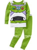 Hot Free Shipping Cartoon Pajama set  Wholesale 6sets/lot Baby Sleepwear Shirts  pants /long sleeve Underwears sets 6sizes 7273