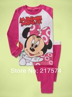 Hot Free Shipping Cartoon Pajama set  Wholesale 6sets/lot Baby Sleepwear Shirts  pants /long sleeve Underwears sets 6sizes 7292