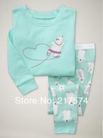 Hot Free Shipping Cartoon Pajama set  Wholesale 6sets/lot Baby Sleepwear Shirts  pants /long sleeve Underwears sets 6sizes 7176