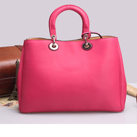 hot sale top  quality cowhide genuine leather handbag tote bag  shoulder cross-body women's leather handbag 10001