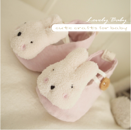 Summer baby pink sugar rabbit baby shoes newborn shoes single shoes finished product(China (Mainland))