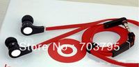 Wholesale  &quot;L&quot; Plug Handsfree 3.5mm In-ear Earphone For MP3/MP4/ DJ Headphone with 8 Earbuds and Carry Case,Free shipping