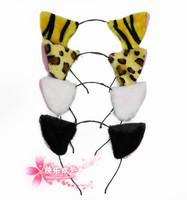 free shipping 10pcs/lot Child cartoon headband hair accessory tiger hair bands whitecat ears cat headband