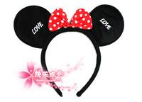 free shipping 10pcs/lot MICKEY ear hair accessory hair bands child cartoon hair accessory belt MICKEY headband