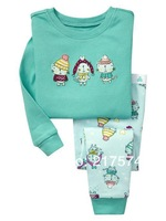 Hot Free Shipping Cartoon Pajama set  Wholesale 6sets/lot Baby Sleepwear Shirts  pants /long sleeve Underwears sets 6sizes 7283