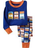 Hot Free Shipping Cartoon Pajama set  Wholesale 6sets/lot Baby Sleepwear Shirts  pants /long sleeve Underwears sets 6sizes 7311