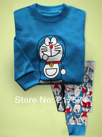 Hot Free Shipping Cartoon Pajama set  Wholesale 6sets/lot Baby Sleepwear Shirts  pants /long sleeve Underwears sets 6sizes 7251