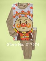Hot Free Shipping Cartoon Pajama set  Wholesale 6sets/lot Baby Sleepwear Shirts  pants /long sleeve Underwears sets 6sizes 7294