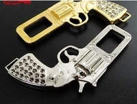 Pistol type car buckle card bolt buckle gold silver car decoration accessories