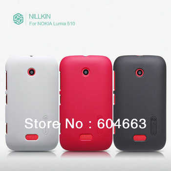 Nillkin Super shell Case for Lumia 510,Mobile phone case for Nokia Lumia 510.retail box+screen protector