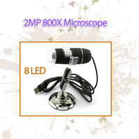 NEW USB 800x 8xLED with 2.0Mp Camera Digital Microscope Endoscope