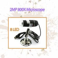 NEW USB 800x 8xLED with 2.0Mp Camera Digital Microscope Endoscope