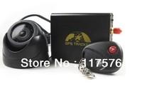 Car Vehicle GPS Tracker TK106B+Remote Control+Shake Sensor+Siren+Camera+SD Card