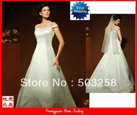 GW15 cap sleeves satin sweetheart wedding dress
