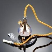 Hantec hd-805 hookah water smoking pipe tobacco dual hookah pot gold and silver
