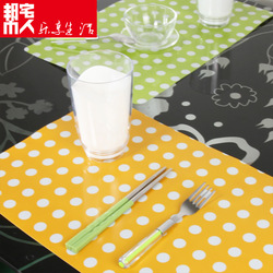 The creative fashion home high quality pp placemats table mat Western pads insulation pad disc /disk coasters Mats &amp; Pads(China (Mainland))