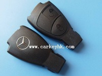 10pcs/lot  Benz 2 button smart remote control key case shell blank cover fob with logo