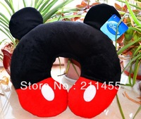 Mickey Mouse U Pillow, Auto U Shaped Pillow Neck Support for Car Airplane Travel Pillow Free Shipping