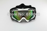 2013new Ski Motorcycle Off-Road Racing Goggles Eyewear Single Lens Colors Frame White