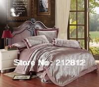 FreeShip EXPRESS luxury bedding set silk Floral Jacquard bedding 4 pcs bedspreads /duvet cover set /comforter set king/queen