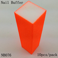 [ Retail ] High-Quality Fluorescent Orange Nail Buffer Block File 4 Way Shine, 10pcs/lot  + Free Shipping